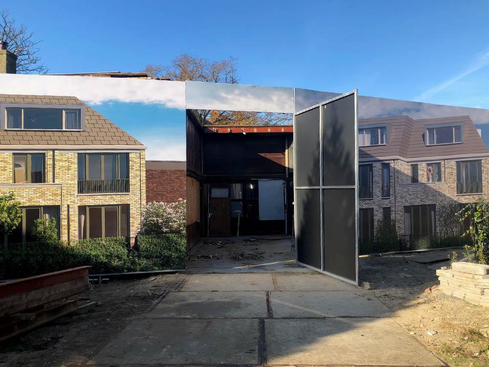 Blindframe modulaire bouwschutting met deur bouwborden 3 1000x750