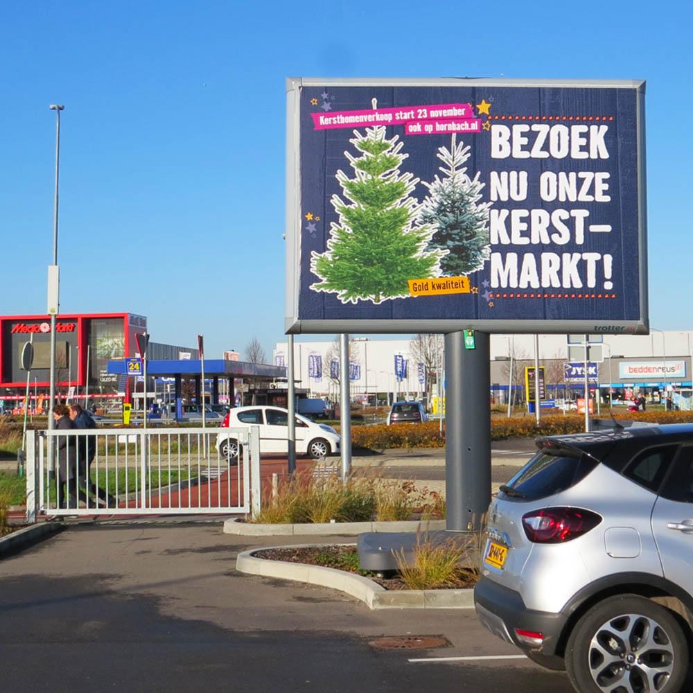 Hornbach Kerstuiting 2020 Trotter billboard buitenreclame 1000x1000