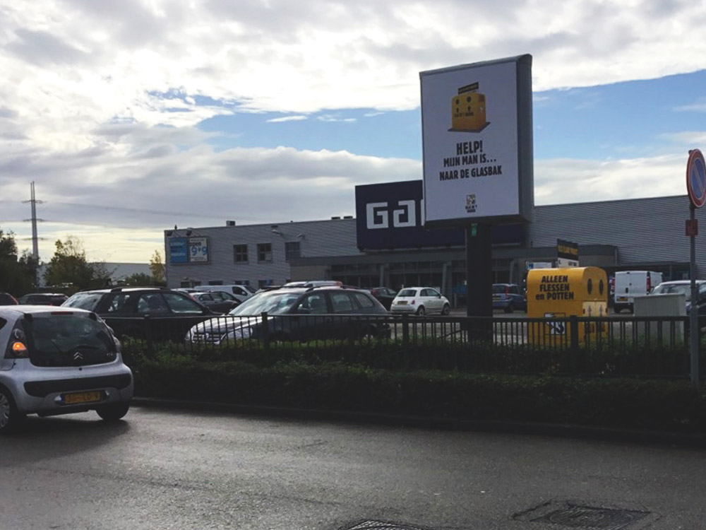 Glas in't bakkie campagne Trotter billboard overheid communicatie 3 1000x750